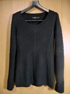 ラウンドネックデザインセーター