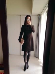 ウールスリムフィットドレス