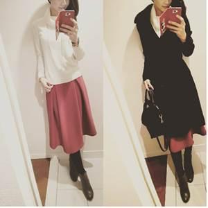 ホワイト×カラースカート!!